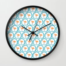 Flamingo and Leaves Wall Clock