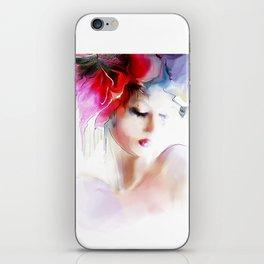 woman spring iPhone Skin