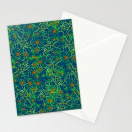 Neurons (blue and green) Stationery Cards