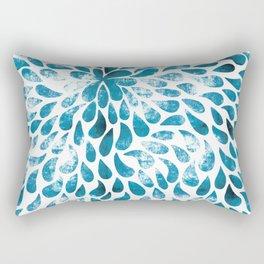 CUT OUT TEAR DROP PATTERN / INDIAN INK Rectangular Pillow
