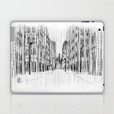 Fog and Rain: Cityscape (WHITEOUT) Laptop & iPad Skin