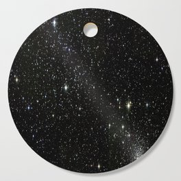 Universe Space Stars Planets Galaxy Black and White Cutting Board