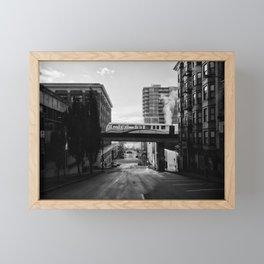 Morning Train BW Framed Mini Art Print