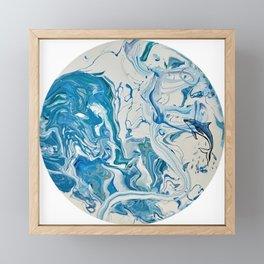 Blue Dolphin Planet Framed Mini Art Print