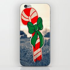 Christmas candy cane iPhone & iPod Skin