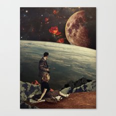 The Roses Came Canvas Print