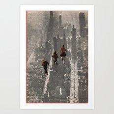RUN THE TOWN Art Print