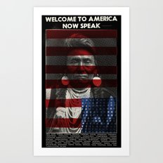Welcome to America Art Print