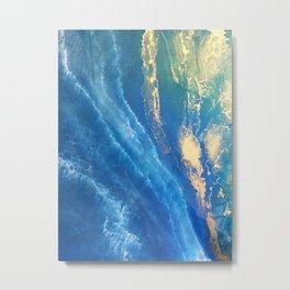 Blue & Gold Metal Print