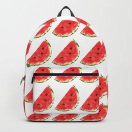 watermelon pattern grid, fill, repeating, tiled | elegant Backpack