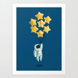 Astronaut's dream Art Print