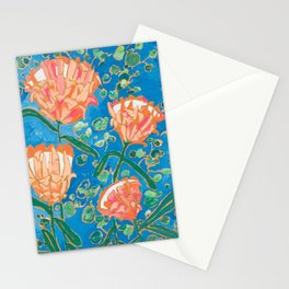 Four Orange Proteas Stationery Cards