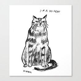 I'm a delight Canvas Print