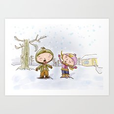 Winter's Fun!!! Art Print