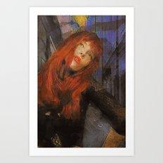 Bemused Portrait Art Print