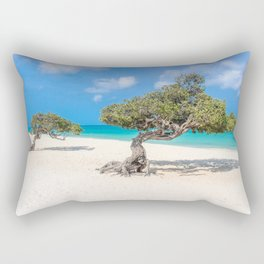 Caribbean Island, Eagle Beach, Aruba Rectangular Pillow