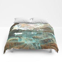 Aqua Space Shipyard Comforters