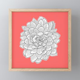 Dahlia flower || Lost Colors Framed Mini Art Print