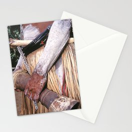 Sing Sing Villager With Drum In Papua New Guinea Stationery Cards