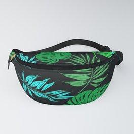 Vintage Retro Tropical Leaf Pattern Fanny Pack