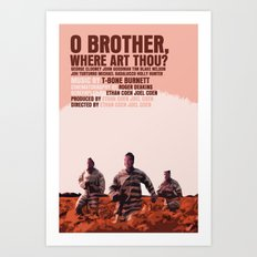 O Brother, Where Art Thou Movie Poster  Art Print