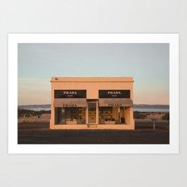 Sunrise Marfa Store Art Print