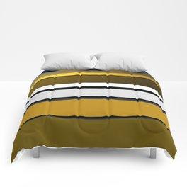 Golden Stripes Pattern Comforters