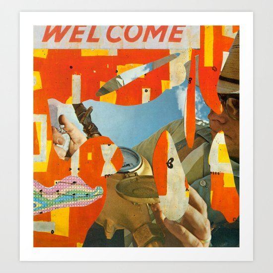 Welcome Surveyor Art Print