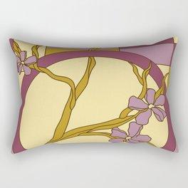 Lilac modern art nouveau flowers Rectangular Pillow