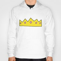 crown Hoodies featuring Crown by elysiancreations