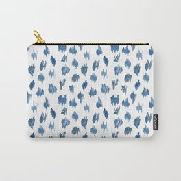Brushstrokes of blue paint Carry-All Pouch