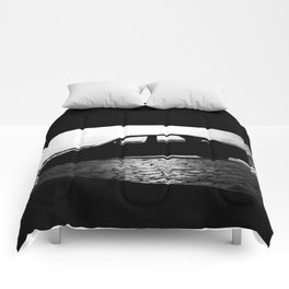 Car at night Comforters