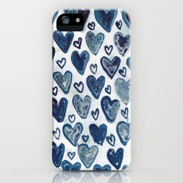 Hearts aplenty. iPhone Case