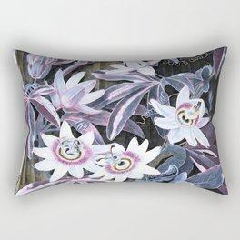 Temple of Flora Pastel Pink Blue Rectangular Pillow
