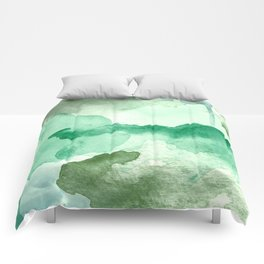 Meadow Pool Abstract Comforters
