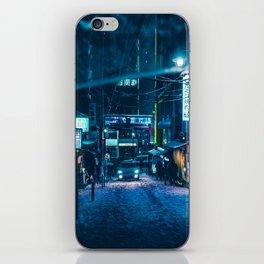 From My Umbrella -Snowy Night- iPhone Skin