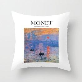 Monet - Impression, Soleil Levant Throw Pillow