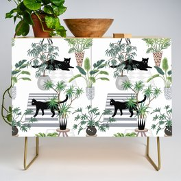 cats in the interior pattern Credenza