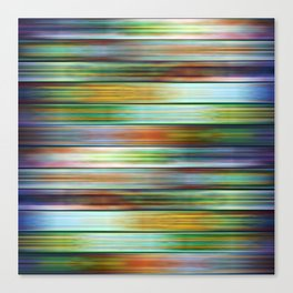Colorful Metal Ribbons Pattern Canvas Print