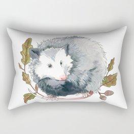Possum and Oak Leaves Rectangular Pillow