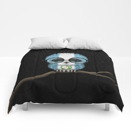 Baby Owl with Glasses and Guatemalan Flag Comforters