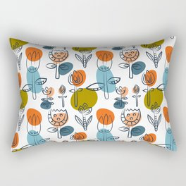Pattern in Nordic Floral Style #6 Rectangular Pillow