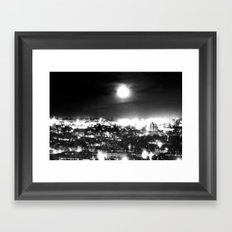 Boston and the Super Moon Framed Art Print