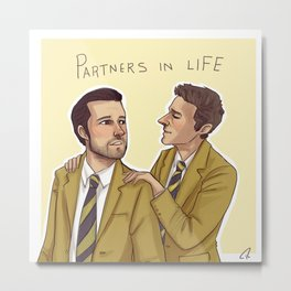 Partners in life Metal Print