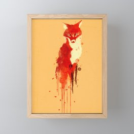 The fox, the forest spirit Framed Mini Art Print