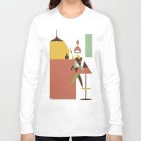 bar Long Sleeve T-shirts featuring Mini Bar by Szoki
