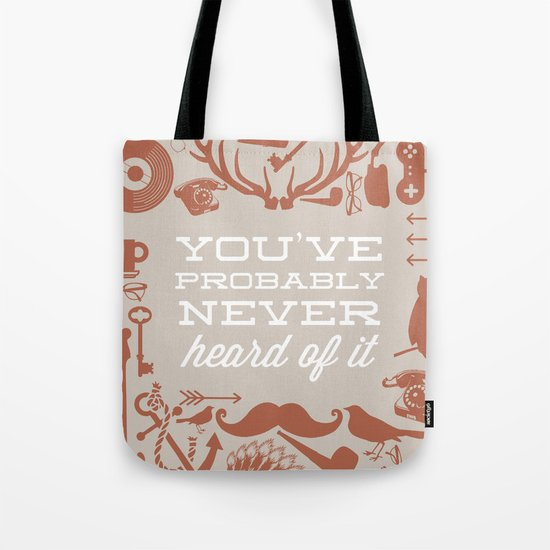The Study of Hipsters Tote Bag