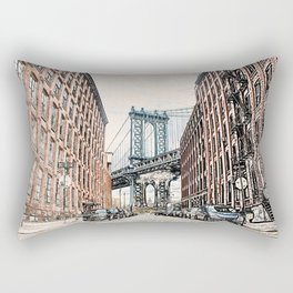 Dumbo New York City Rectangular Pillow