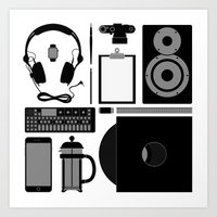 Studio Objects Vector Illustration Art Print