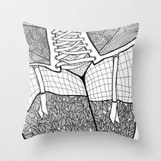 La femme 11 Throw Pillow